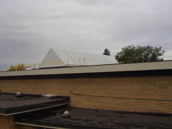 Roof view of completed panels